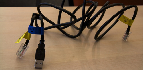 This strange combo USB-Ethernet cable came with our new DSL modem ...