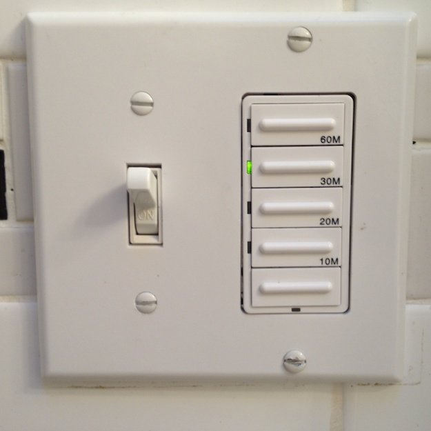 bathroom fan timer switches