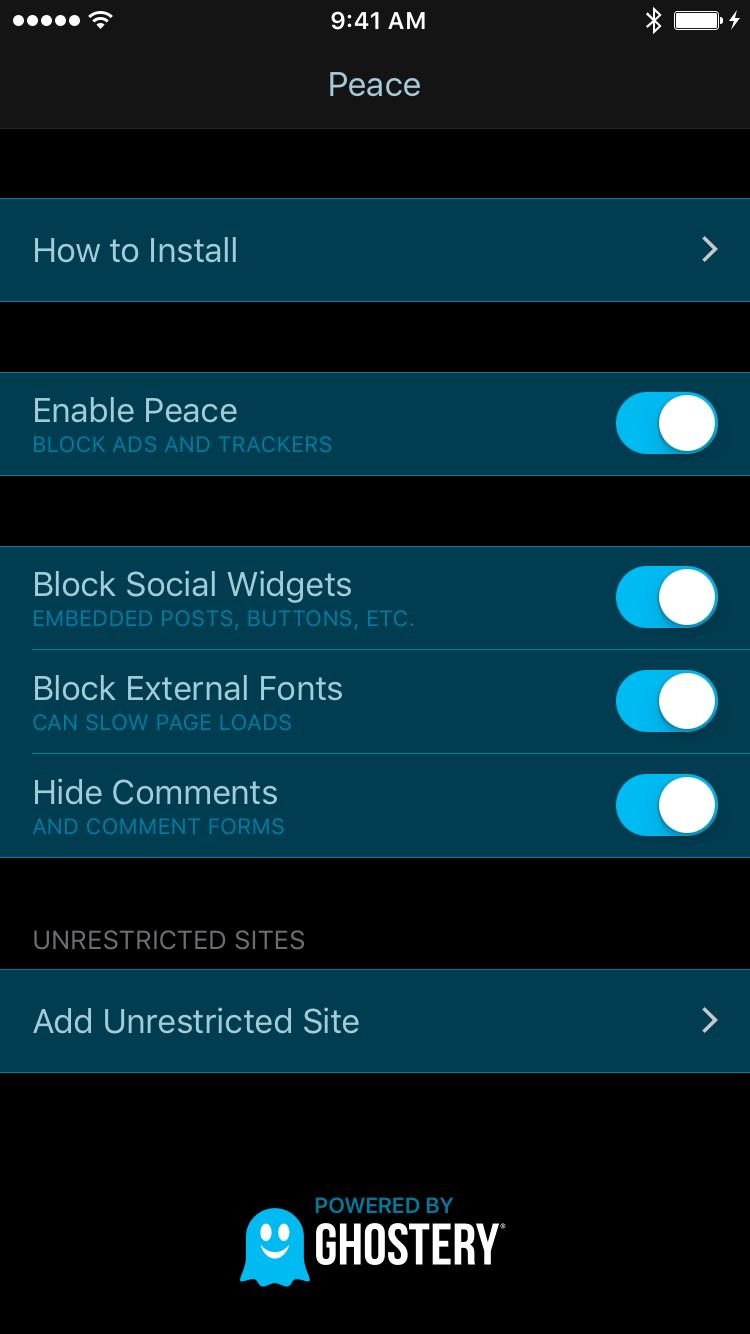 Introducing Peace My Privacy Focused IOS 9 Ad Blocker
