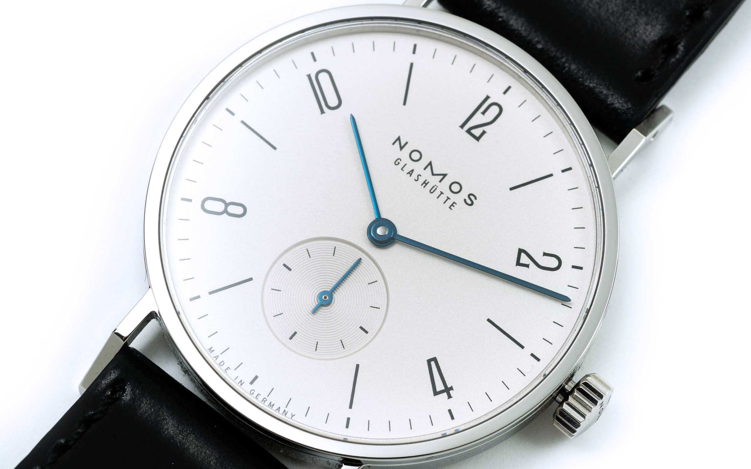 From marco.org: a Nomos mechanical watch